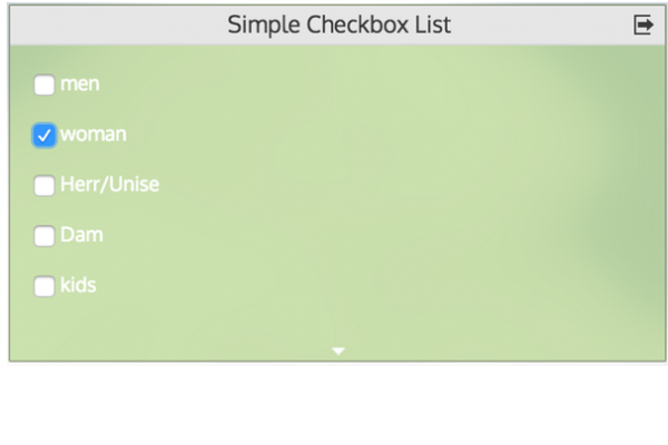 Simple-Checkbox-List